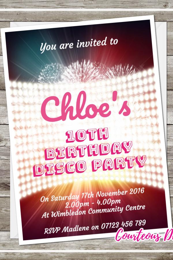 birthday disco invites - Disco Party Invitations