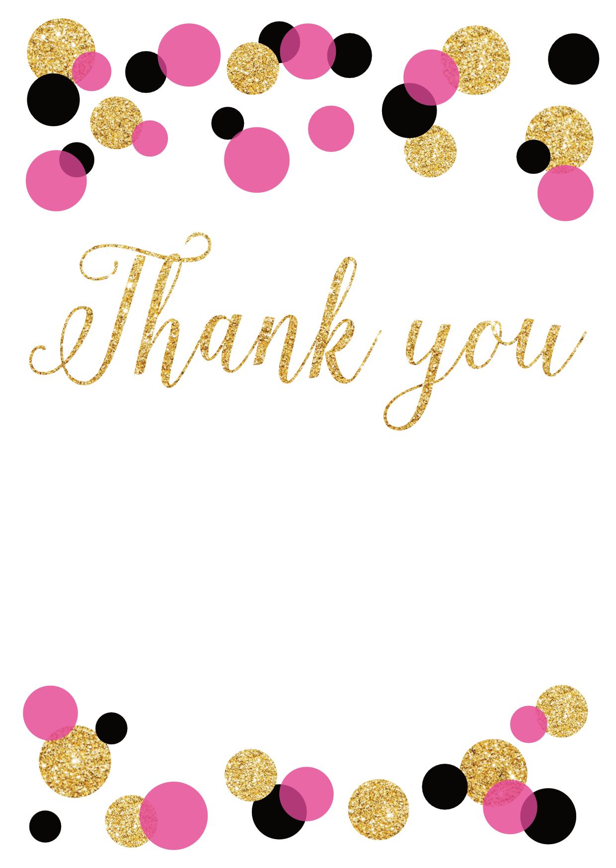 confetti design thank you cards suavecards com