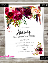 Watercolour-Floral-Flowers-Invites-V2-Pc05-Sample